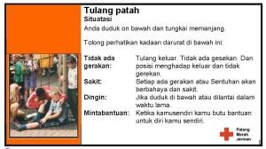 Darstellerkarten Indonesisch Knochenbruch