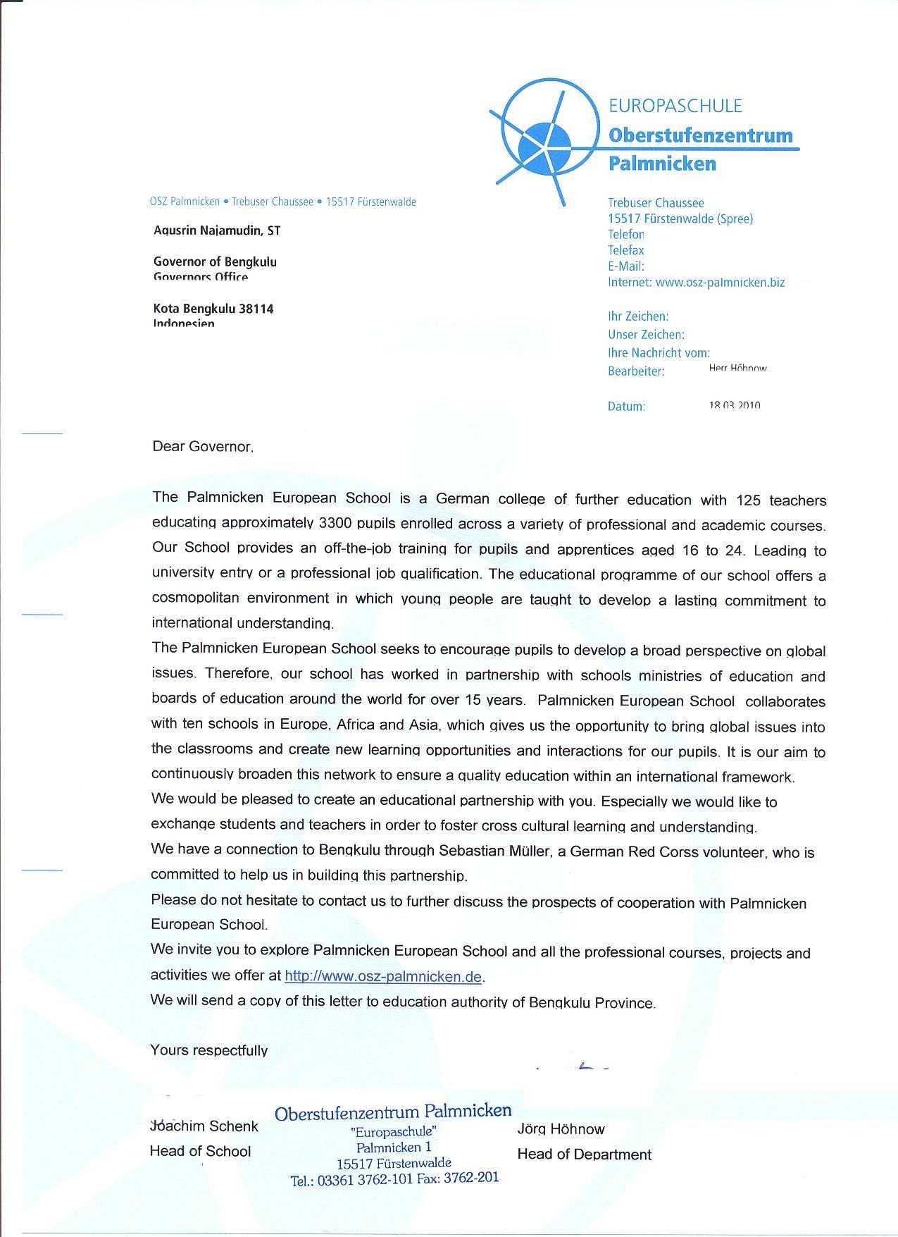formal brief auf deutsch beispiel essay