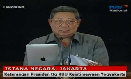 Auch Indonesische Spitzenpolitiker nutzen inzwischen Apples neusten Gral