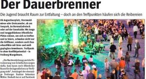 Der Wochenbericht berichtet über das heißte Thema Treffpunkte in Freiburg