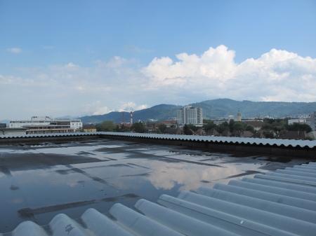 Blick aufs Dach nach Nord Osten